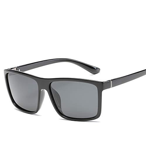 YOULIER Gafas de sol de calidad de los hombres polarizadas negro clásico gafas de sol Uv400 conducción capa gafas de sol S032