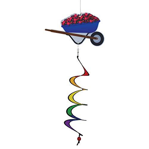 In The Breeze 5164 Tema de carrinho de mão Twister-Decoração de jardim ao ar livre