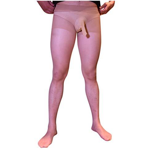 LoveLeiter Herrenstrumpfhose Männer lang Unterhose Unterwäsche Strumpfhose Herren Leggings Pants Hosen Transparent Nylon Strumpfhose Durchgehendem Body