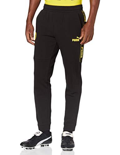 PUMA Herren BVB ftblCulture Track Pants Jogginghose, Black-Cyber Yellow, XL