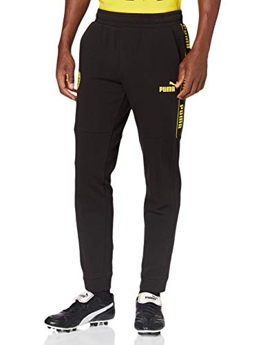 PUMA Herren BVB ftblCulture Track Pants Jogginghose, Black-Cyber Yellow, XXL