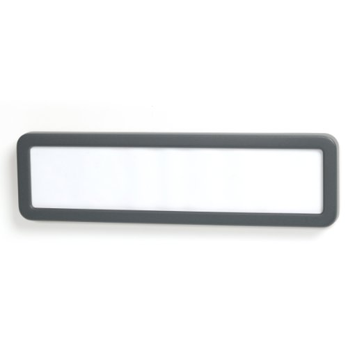 Officemate Verticalmate Name Plate, Gray (29222)
