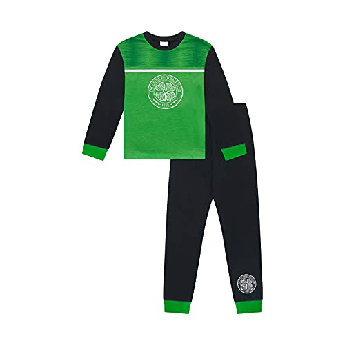 Celtic F.C. Boys Pyjamas PJs Set Ages 3 to 15 Years Old, Official Football Merchandise (11-12 Years) Green