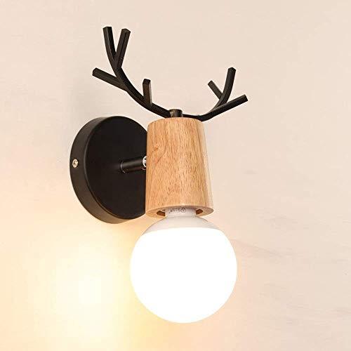 Latarnia ścienna Reflektor ścienny Nordic Wood Art Osobowość twórcza Poroża Salon Sypialnia Kinkiet Łazienka Lustro w łazience Światło w szafce Lustro łazienkowe Reflektory ciepłe (kolor: biały), kolo