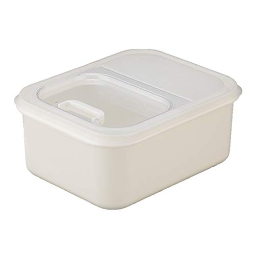 DIAOD 6KG Flip Cover Sealed Multi-function Rice Bucket Storage Box Kitchen Household Cereal Dispenser Food Grain Container Box