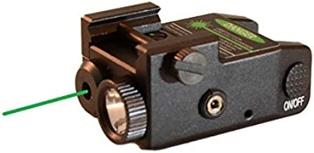 HiLight P3XL 300 lm Strobe Pistol Flashlight & Green Laser Sight Combo for Subcompact Pistols (Hard Anodized Aircraft Grade Aluminum USB Rechargeable Built-in Battery)