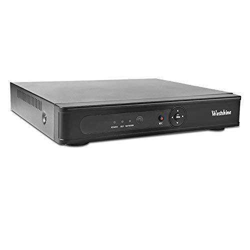 Westshine 8CH 5MP H.265 DVR CCTV Security Standalone Video Recorder, accesso remoto, allarme di rilevamento del movimento e-mail, supporto 5MP/4MP/3MP/2MP AHD/CVI/TVI/IP & Analog 960H telecamere