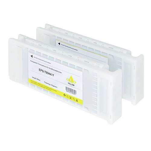 Tintenpatrone kompatibel für Epson SureColor T6944 C13T694400 SC-T 3000 3200 5000 5200 7200 3270 5270 7270 D-PS POS Series W/O Stand- Yellow je 700ml