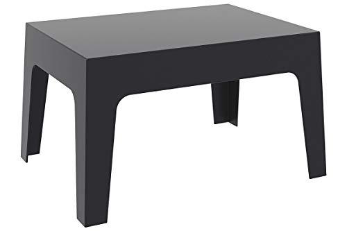 CLP Table Basse de Jardin Box en Plastique -Table d'Appoint pour Usage Extérieur Empilable - Hauteur 43 cm Résistante aux Intempéries et aux Rayons UV - Couleurs: Noir