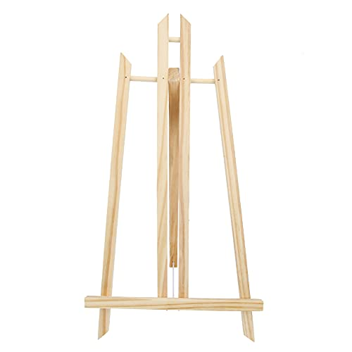 Caballete de bosquejo, soporte de pintura de escritorio plegable de madera triangular pequeño para casarse con fines publicitarios(50cm)
