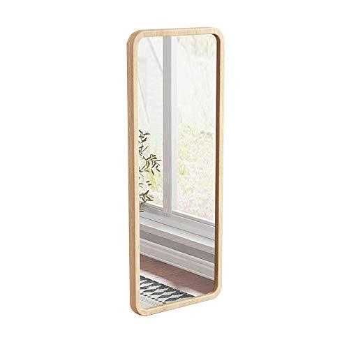 Madera de pino Espejo de cuerpo entero Espejo de cuerpo entero Dormitorio de casa Espejo de vestidor para niña montado en la pared Gancho para colgar en la pared Espejo de pared Espejo de piso Espej