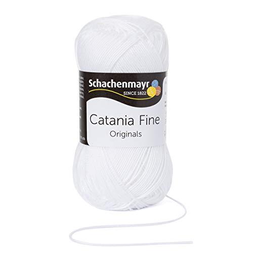 Schachenmayr Catania Fine 9807300-01000 weiß Handstrickgarn, Häkelgarn, Baumwolle