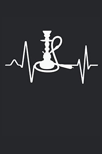 Narghilè battito cardiaco: Shisha Hookah Heartbeat Heart Rate EKG Lounge Bar Regali Notebook a righe (formato A5, 15,24 x 22,86 cm, 120 pagine)