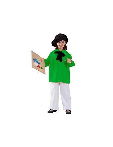 DISBACANAL Disfraz Pintor Picasso Infantil - Verde, 10 aos
