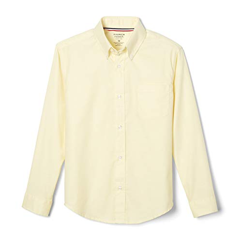 French Toast Little Boys' Long Sleeve Oxford Dress Shirt, Yellow, 6