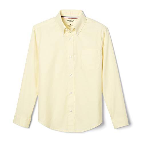 French Toast Little Boys' Long Sleeve Oxford Dress Shirt, Yellow, 6