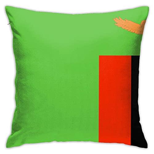 N \ A Kissenbezüge mit Flagge von Sambia, dekorativer Kissenbezug