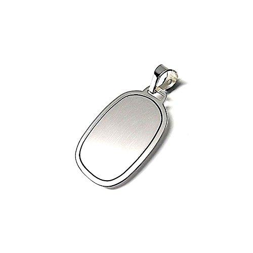 Colgante plata ley 925m 28mm. chapa ovalado [AA8281GR] - Personalizable - GRABACIÓN INCLUIDA EN EL PRECIO