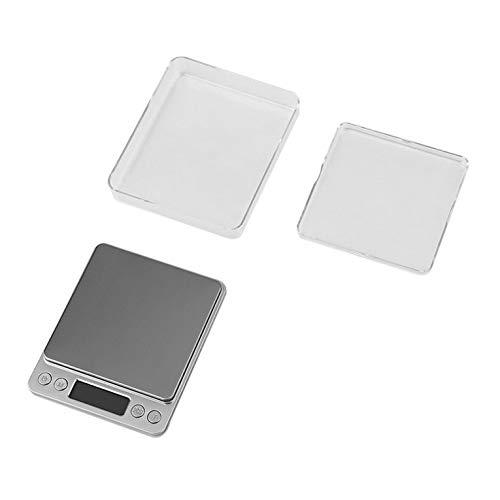 #N/V Báscula digital de cocina de acero inoxidable para joyería de alimentos balanza de peso con batería de alta precisión electrónica