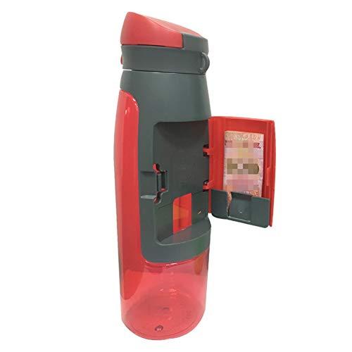 Yiyu Compartimento Botella de Deporte en Dinero, Tarjetas de Botella Deportiva Práctica x (Color : Red)