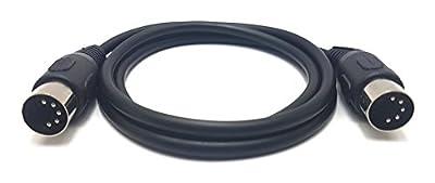 MainCore 1m long 5-pin Midi to 5-pin Midi Audio Cable lead Cord