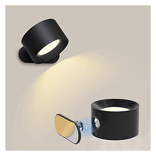 Applique da Parete LED Lampada da Parete Interno 3 Livelli di Luminosità Lampada a Muro Controllo Tattile Batteria 1800mAH Lampada da Parete LED Moderno per Comodino,Soggiorno, Camera da Letto