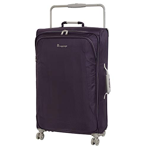IT Luggage 31.5' World's Lightest 8 Wheel Spinner, Purple Pennant With Cobblestone Trim, One Size