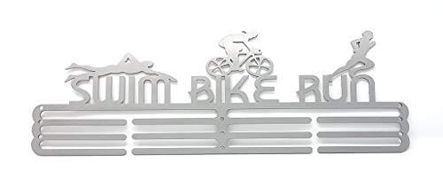 """JR Hangers And Crafts Medaillen-Aufhänger """"Swim Bike Run"""" Triathlon Stahl"""