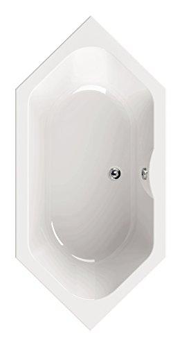 'aquaSu® ScaLma 6-Eck Wanne | Acryl | Badewanne | Bad | Badezimmer | Weiß | 190 x 90 cm