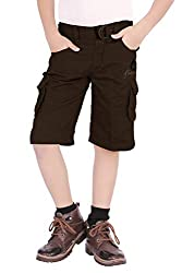 Adbucks Premium Style Rich Cotton Boys Cargo 3/4th Pants with Belt for Boys (Multi Color)