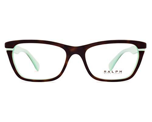 Ralph Lauren Damen 0Ra7091 Brillengestell, Braun/Blau (Havana/Aquamarine), 51