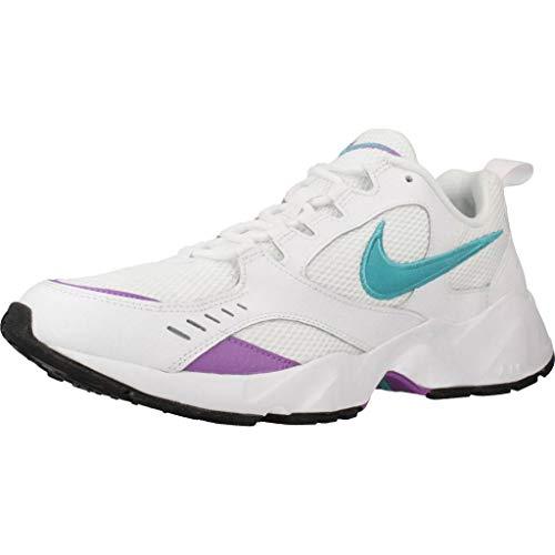 Nike Herren Air Heights Traillaufschuhe, Mehrfarbig (White/Teal Nebula/Bright Violet 100), 45 EU