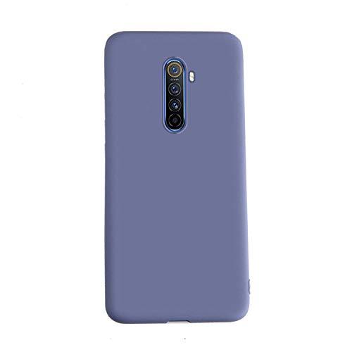 Henxunton Hülle für Realme X2 Pro, Dünn Flüssiges Silikon Hülle Weich Handyhülle Flexible Silikon Hülle Schale Hülle für Realme X2 Pro Smartphone (Lavendelgrau)