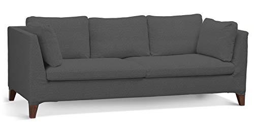 Dekoria Stockholm 3-Sitzer Sofabezug Husse passend für IKEA Modell Stockholm grau
