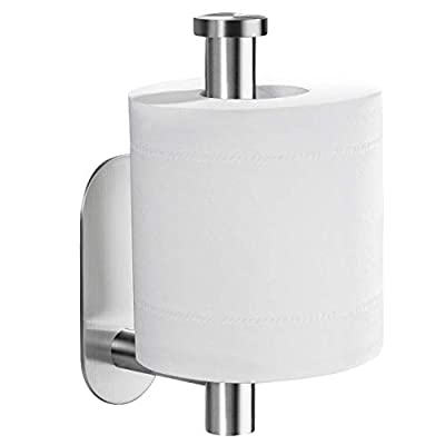YIGII Toilet Paper Holder Self Adhesive - Adhesive Toilet Roll Holder no Drilling for Bathroom Stainless Steel Brushed by YIGII