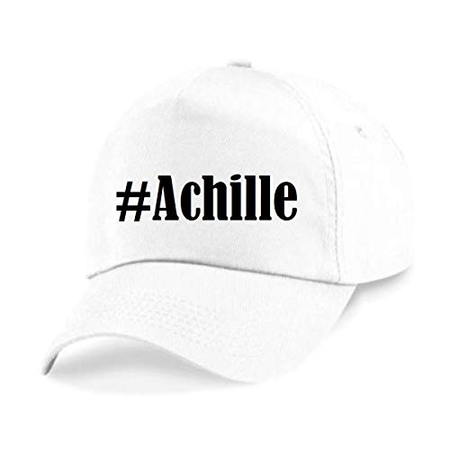 Reifen-Markt Base Cap Hashtag #Achille Größe Uni Farbe Weiss Druck Schwarz