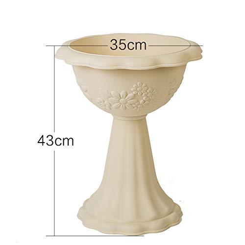 Ménage Imitation céramique Coupe Type Créatif Pot de Fleur Grande Bonsaï Plein air Plastique Pot de Fleur-C Gros