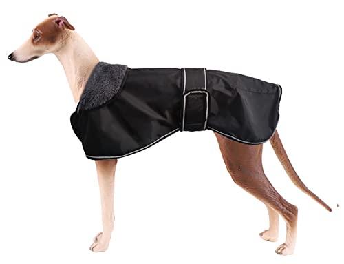 Pethiy Chaqueta Impermeable para Perros, Abrigo de Invierno para Perros con Forro de vellón cálido, Ropa para Perros al Aire Libre XL(Back Length 66CM / 26in) Negro