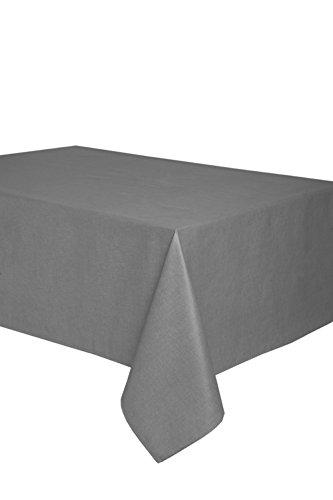 Mantel antimanchas rectangular Olimpia 50% algodón 50% poliéster, resinado y con Teflón de Dupont® - 150x200 - Liso gris