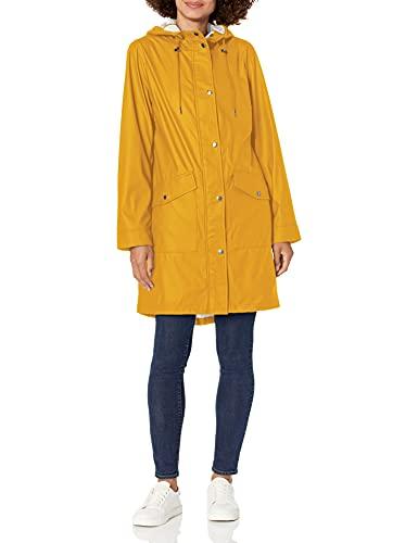 Levi's womens Lightweight Rubberized PU Fishtail Rain Anorak Parka Jacket, Yellow, Large