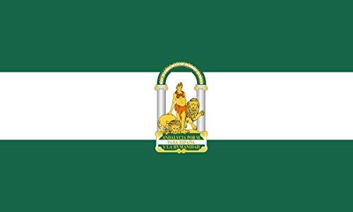 Grand Bandera de Junta de Andalucia 150*90 cm Satén Durabol .