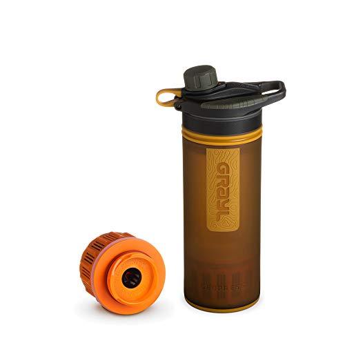 Grayl GeoPress Outdoor- und Reisewasserfilter mit 1 Ersatzfilter - Coyote Amber