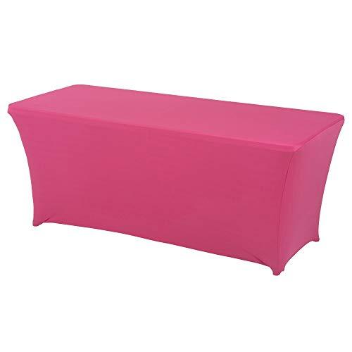 Souarts Stretch Tischdecke Spandex Lycra Rechteckige Form Hochzeit Bankett Aufgebockter Tisch 183 * 76 * 76cm 1PCS