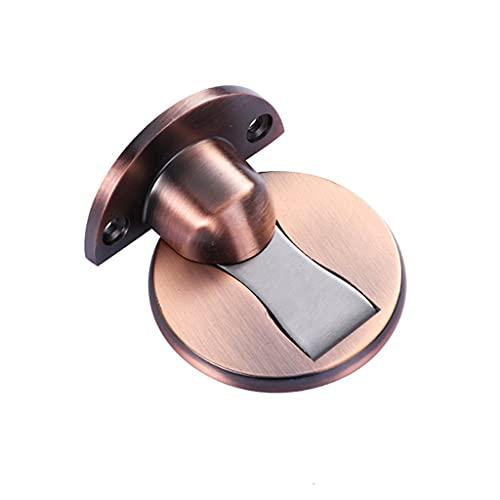 Diaod Tapón de la Puerta Non-Punch Cinco Clases Colores Disponible Puerta Puerta Hidden Doorstop Muebles Puertas Hardware (Color : Red Bronze)