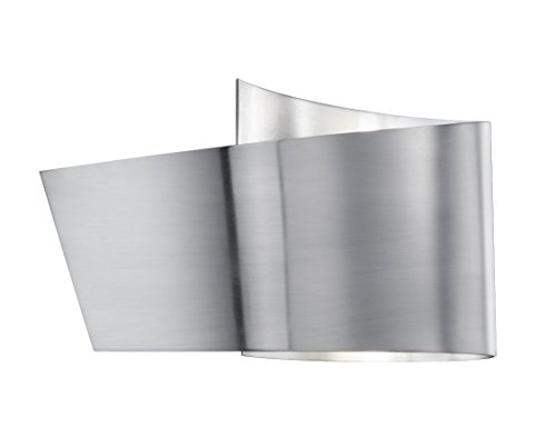 TRIO, Applique, Flesso incl. 1 x LED,SMD,2,3 Watt,3000K,230 Lm. Corps: metal, Nickel mat L:20,0cm, H:12,0cm, P:9,0cm IP44,OSRAM Inside,Montage au mur