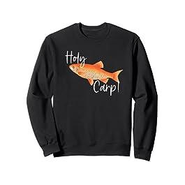 Holy Carp Drôle de pêche Pun Big Fish Fisherman Sweatshirt