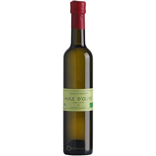 Château de Montfrin - natives Olivenöl extra Bio - Frankreich Languedoc - Oliven Aqrbequina und Arboussane - 500ml Flasche / FR-BIO-10