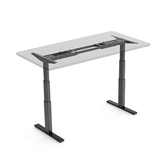 FlexiSpot 電動式スタンディングデスク 高さ調節スタンドアップワークテーブル学習机勉強机 ブラックE3B(...