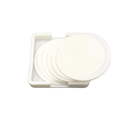 6 Pezzi Sottobicchiere in Silicone Sottobicchieri in Silicone Tondo Per Bicchieri Tondo Impermeabile Antiscivolo ad Alta Temperatura Boccale Sottobicchieri