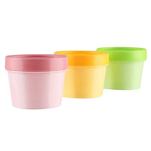 Timagebreze Pot de Masque en Plastique Vide, Bol à MéLanger pour le Visage, Pot à CrèMe avec Doublure IntéRieure - pour Gommage au Sucre